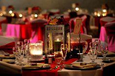 fall wedding inspiration  Lantern Centerpieces- Antique metal lanterns play off autumn's rich hues