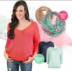 Beautiful spring time colors! www.silvericing.com/mkelly Silver Icing, Spring Time, Pullover, Blouse, Colors, Beautiful, Tops, Women, Fashion