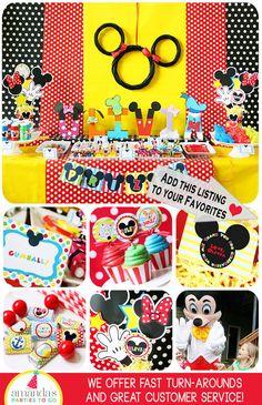 Mickey Mouse Birthday Decorations Mickey by AmandasPartiesToGo