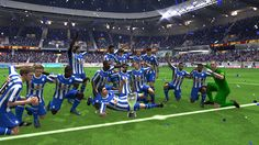 A Screenshot of my team Sheffield Wednesday in FIFA 14 Career Mode celebrating the Euro League trophy after beating Ac Milan 1-0 in the final of the competition. Screenshot by: Mohamed Hetta  #fifa14 #screenshot #sport