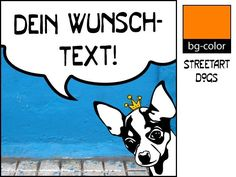 Kunstverstecke+Chihuahua+–+Illustration+Streetart+von+bg-color+auf+DaWanda.com