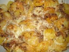 Potato and minced meat gratin Ptitchef recipe Healthy Menu, Healthy Crockpot Recipes, Love Eat, Carne, Macaroni And Cheese, Food Porn, Good Food, Food And Drink, Nutrition
