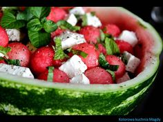 Kolorowa Kuchnia Magdy: Sałatka z arbuzem i fetą