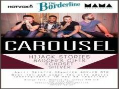 Carousel, Hijack Stories, Badger's Gifts, Echoset, Shiver On April 26, 2014 at 6:30 pm to 10:30 pm at The Borderline, Orange Yard, Manette Street, London, W1D 4JB, United Kingdom, On Saturday 5th April Carousel will be playing their headline set at The Borderline with support from Hijack Stories, Badger's Gifts, Echoset and Shiver. Tickets: http://atnd.it/8259-1, Facebook: http://atnd.it/8259-0, Category: Live Music, Price: Advance: £6.00, On The Door: £8.00