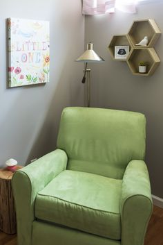 A cozy nursing nook