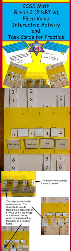 Interactive Place Value Tool and Task Cards
