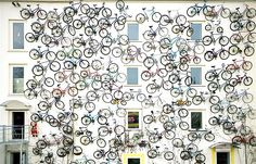 bike shop has its facade...