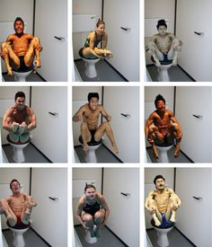 Olympic divers on the toilet