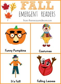 Free Fall Emergent Readers - The Measured Mom
