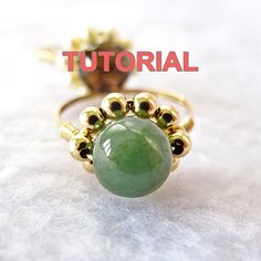 TUTORIAL-Wire Wrap Sparkly Daisy Ring by WireBliss on Etsy