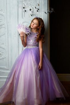 Lace Bodice, Lace Sleeves, Lace Dress, Purple Flower Girls, Princess Prom Dresses, Girls Pageant Dresses, Gowns For Girls, Beautiful Gowns, Outfits For Teens