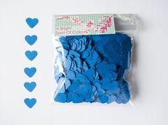 1000 Coriandoli a cuore blu per Matrimoni di BrightSpotOfColour
