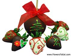 Life is short, Eat Chocolate! Holiday Berries and our gourmet apple make the perfect gift for the holidays.