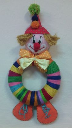 Clown Party, Food Crafts, Diy And Crafts, Crafts For Kids, Diy Tie Dye Shirts, Popsicle Crafts, Christmas Crafts, Christmas Ornaments, Art N Craft