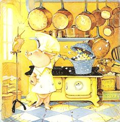 Puddle - Toot & Puddle, 1987. This is how I feel when I cook.