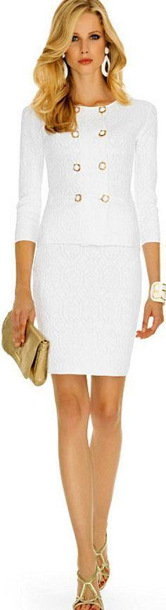 @roressclothes clothing ideas #women fashion white midi dress