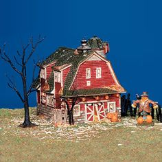 "Department 56: Products - ""Haunted Barn"" - View Lighted Buildings"