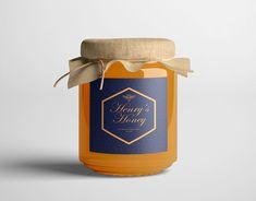 Label Design, Packaging Design, Branding Design, Logo Design, Bee Icon, Honey Logo, Honey Label, Honey Brand, Honey Packaging