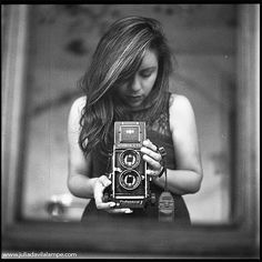 The camera can photograph thought. Júlia Dávila-Lampe #vintage #camera #cameragirl