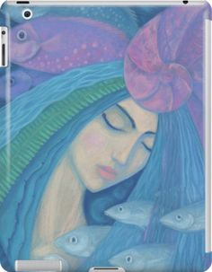 """""""The Pearl, Mermaid Princess, underwater fantasy art"""" iPad Cases & Skins by clipsocallipso 