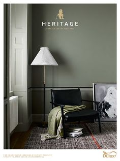 Latest projects and overview of work by Jake Curtis. Green Bedroom Colors, Bedroom Paint Colors, Paint Colors For Home, Living Room Green, Living Room Colors, Colorful Interior Design, Colorful Interiors, Dulux Heritage Colours, Sage Green Paint