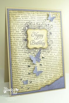 Pretty handmade card.