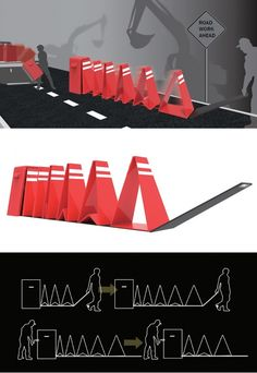 Setting up traditional #traffic warning cones at a #roadwork site takes a long…