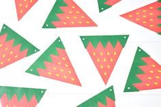 Printable Strawberry Flag Bunting - Party Pieces Blog & Inspiration