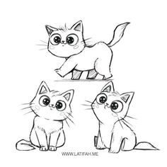 cat sketch - My new addiction. Kitten Drawing, Cute Cat Drawing, Cute Drawings, Cat Cartoon Drawing, Cartoon Cats, Drawing Art, Cat Character, Character Sketches, Animation Character