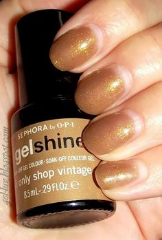 "Sephora by OPI Gelshine  gel polish in ""I Only Shop Vintage""  More pics and a review on http://gel-luv.blogspot.com"