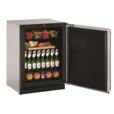 U-Line 2000 Series 2224 24-inch Stainless Steel Solid Door Refrigerator