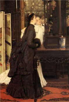 """James Tissot.""""Young Ladies Looking at Japanese Objects, 1869"""""""