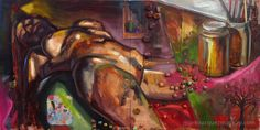 Figure on couch Banner Elk, Disney Characters, Fictional Characters, Original Paintings, My Arts, Nude, Couch, Female, The Originals