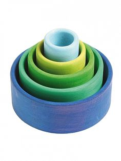 Ocean Blue Stacking Bowls : Norman and Jules