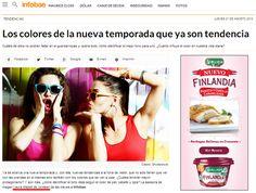 Los colores de la temporada en Infobae http://www.infobae.com/2014/08/21/1589338-los-colores-la-nueva-temporada-que-ya-son-tendencia