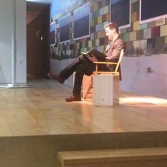 Keanu Reeves on stage reading from NOA NOA 2_8_2015 - Fondation Beyeler, Basel (Switzerland)
