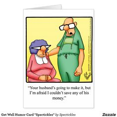 "Get Well Humor Card ""Spectickles"""