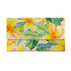 Blue Banana Ladies Womens Blue Tropical Floral Flower Purse//Wallet Accessory