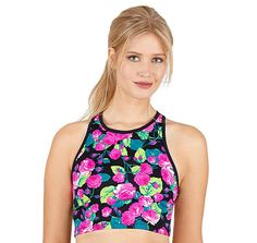 PRINTED EXTENDED LENGTH BRA: Betsey Johnson from Betsey Johnson. Saved to Clothes.