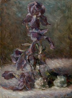 Iris in a vase 1886 - Bracquemond Marie