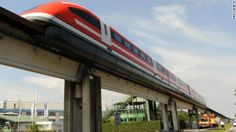 The Transrapid TR 09 mag-lev train, pictured on a test track in Lathen, Germany in 2008, hit a top speed of 279 mph. The German government c...