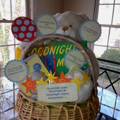 baby shower gift basket that helps a book come alive use parts from a