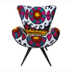 Frida Chair Suzani White now featured on Fab.