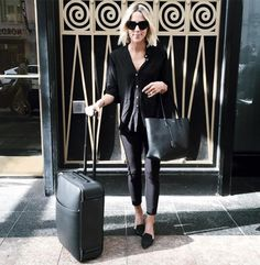Chic Travel-Outfit Ideas to Try This Season via @WhoWhatWear
