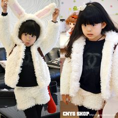 Wardrobe children's clothing soft plush rabbit head cap knitted long-sleeve thick outerwear shorts set on AliExpress.com. 5% off $52.35