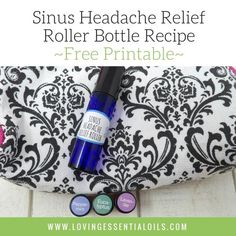 Essential Oils For Sinus Headache Relief - Roller Bottle Recipe - The pain and pressure from sinus headaches can make you feel just terrible, get natural relief