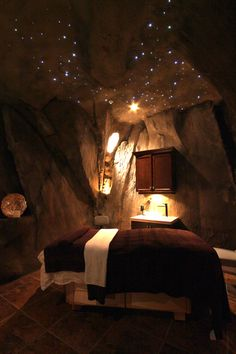 gente Bella Spa and Salon Massage Room, Artificial rock Caves with Fiberoptic Lighting                                                                                                                                                                                 More