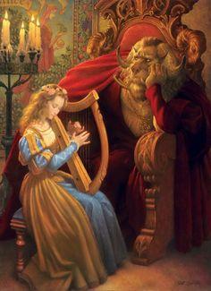 Американский художник Скотт Густафсон (Scott Gustafson) Book Illustration, Illustrations, People Illustration, Classic Fairy Tales, Brothers Grimm, Fairytale Art, Thomas Kinkade, Disney Art, Belle Photo