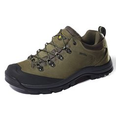 c7d1c3a0949 CAMEL CROWN Mens Nubuck Leather Hiking Shoes Waterproof Slip-Resistant  Outdoor Trail Trekking Shoes Men