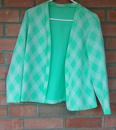 VINTAGE HANDMADE SWEATER WOMENS M/L  buttonless MADE IN THE USA mint office #Handmade